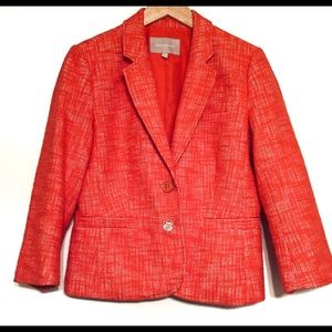 Banana Republic Factory   Orange Tweed Blazer (10)